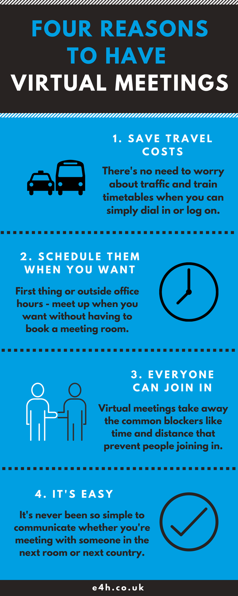 four reasons to have virtual meetings